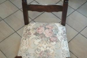Chaise garnie en mousse  Pose du tissu