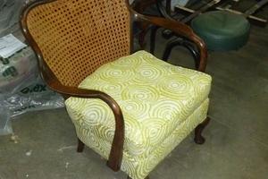 fauteuil avec dos canneler