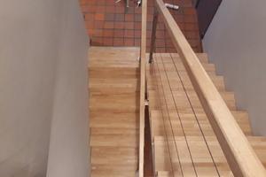 Escalier en hévéa